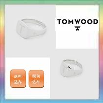 大人気!TOM WOOD Mini Signet Cushion / Oval (Letter) Ring
