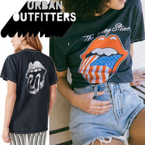 ● Urban Outfitters ●人気 Rolling Stones バンド Tシャツ 黒