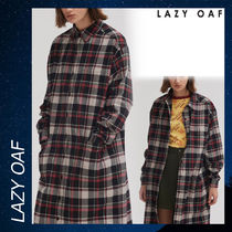 LAZY OAF Oversize Flannel Shirt Dress シャツ ドレス チェック