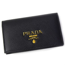 プラダ PRADA 名刺入れ 1MC122 SAFFIANO METAL NERO(goods-4837)