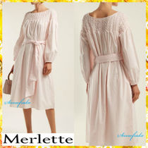 送料関税込★merlette★Bonaire belted smock dress☆Pink