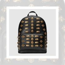 【New 大注目】Gucci Animal studs leather backpack