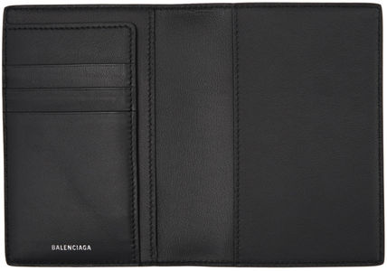 BALENCIAGA パスポートケース・ウォレット BALENCIAGA Everyday Passport Holder case leather Black white(3)