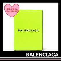 BALENCIAGA Passport Holder ID case leather Black neon Yellow