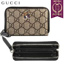 【正規品保証】GUCCI★18秋冬★TIGER PRINT ZIP CARD CASE