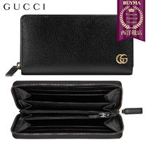 【正規品保証】GUCCI★18秋冬★LEATHER ZIP AROUND WALLET