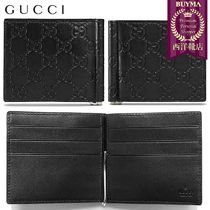 【正規品保証】GUCCI★18秋冬★SIGNATURE MONEY CLIP WALLET