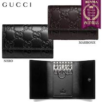 【正規品保証】GUCCI★18秋冬★SIGNATURE LEATHER KEY CASE