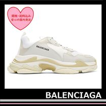 新!! BALENCIAGA White Triple S Sneakers grey beige off-white