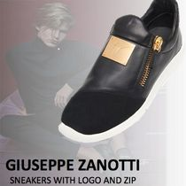 【GIUSEPPE ZANOTTI】SNEAKERS WITH LOGO AND ZIP