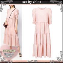 19AW☆送料込【see by chloe】 フロウンス ロングドレス