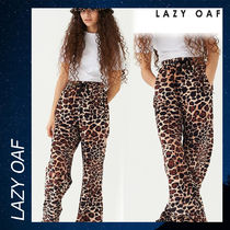 LAZY OAF Leopard Velour Track Pants ボトムス パンツ ベロア