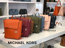 追跡有 Michael Kors★HAYES MD BACKPACK A4収納OK*全革製