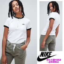 Nike Ringer T-Shirt With Embroided Logo♪