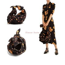 【Simone Rocha】Bow-tied contrast floral-panel tote