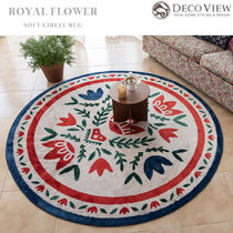 DECO VIEW(デコヴュー) ★Royal Flower Soft Round Rug -100R
