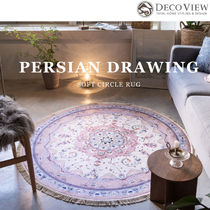 DECO VIEW(デコヴュー) ★Persian drawing Circular Rug -150R