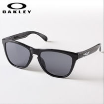 ◆OAKLEY◆ FROGSKINS(A) POLISHED BLACK W/ GREY (OO9245-01)
