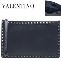 VALENTINO正規品/EMS発送/送料込み Rock Stud Strap Clutch Bag