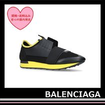 新!! BALENCIAGA Race Runner Sneakers black yellow