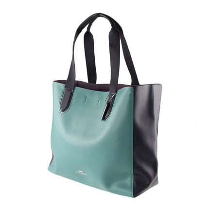 Coach マザーズバッグ 返品可能 COACH clrblk lg drby tote トートバッグ【国内即発】