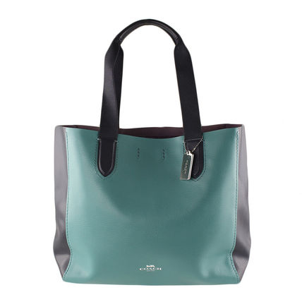 Coach マザーズバッグ 返品可能 COACH clrblk lg drby tote トートバッグ【国内即発】(2)