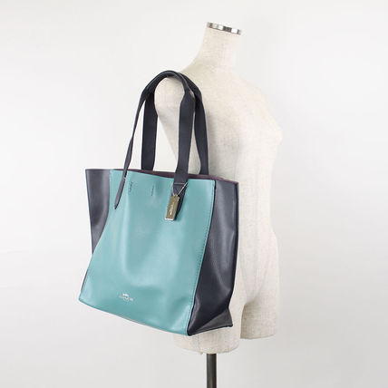 Coach マザーズバッグ 返品可能 COACH clrblk lg drby tote トートバッグ【国内即発】(5)