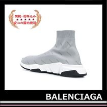 BALENCIAGA Reflective Speed Trainer Sock Sneakers Grey