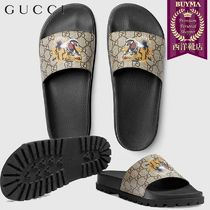 【正規品保証】GUCCI★18秋冬★GG SUPREME TIGER SLIDE SANDAL