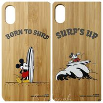 SURF MICKEY☆iPhoneX CASE BAMBOO/BORN TO SURF/SURF'S UP