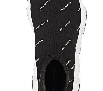 BALENCIAGA メンズ・シューズ BALENCIAGA Speed Trainers Sock Sneakers black logo white(6)