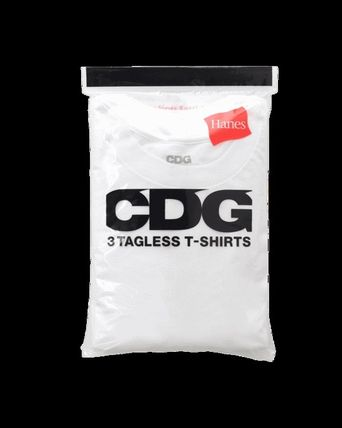COMME des GARCONS Tシャツ・カットソー 送料込◆3枚セット CDGxHanes ロゴTシャツ◆コムデギャルソン(2)