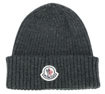 MONCLER Wool Ribbed Beanie Hat