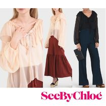 ☆ See By Chloe ☆シルクシフォン ブラウス☆SALE