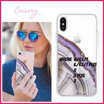 最新!!日本未入荷☆THE CASERY☆LIGHT PURPLE AGATE IPHONE CASE