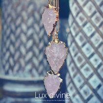 ROSE QUARTZ ARROWHEAD ネックレス★Luxdivine #1053