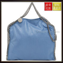【ステラマッカートニー】Falabella Fold Over Tote Bag Blue