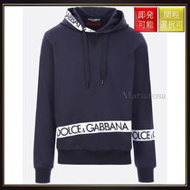 【ドルチェ&ガッバーナ】Cotton Hoodie With Logoed Bands