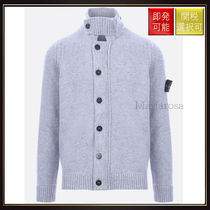 【ストーンアイランド】Wool Knit Cardigan Light Grey