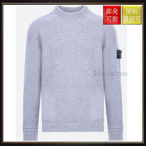 【ストーンアイランド】Wool Knit Pullover Light Grey