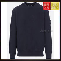 【ストーンアイランド】Cotton Jersey Sweatshirt Black