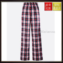 【バレンシアガ】Checkered Flannel Pijama Pants Red And Black