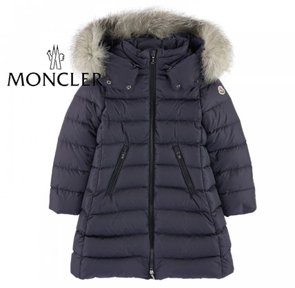 "MONCLER キッズアウター 新作☆MONCLER""ABELLE""豪華FOXファーコート Navy4~6歳【関税込】"