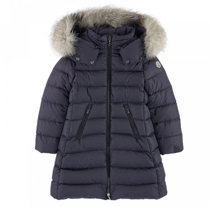 "MONCLER キッズアウター 新作☆MONCLER""ABELLE""豪華FOXファーコート Navy4~6歳【関税込】(2)"