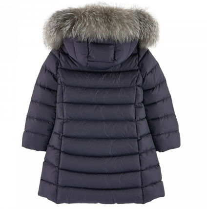 "MONCLER キッズアウター 新作☆MONCLER""ABELLE""豪華FOXファーコート Navy4~6歳【関税込】(3)"