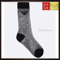 【プラダ】Logo Intarsia Lightweight Nylon Socks Black