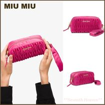 送料関税込☆MIU MIU Matelasse make up pouch