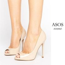 ASOS ピープトゥ ハイヒール NUDE