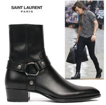 18/19AW☆Saint Laurent WYATT40 HARNESS BOOT Black【関税込】
