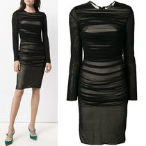 18-19AW TF070 RUCHED MESH DRESS